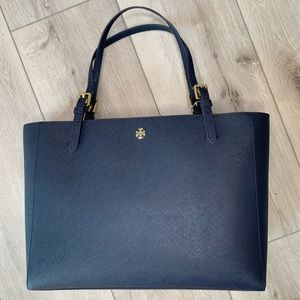 Tory Burch Large Emerson Buckle Leather Tote